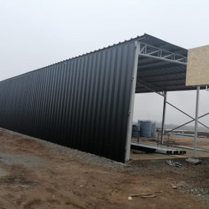 Proyecto edificación de galpón de estacionamiento de maquinaria, comedores, baños, sala de riego. Agricola San Gerardo